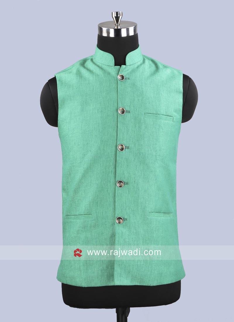 Linen Fabric Mens Koti