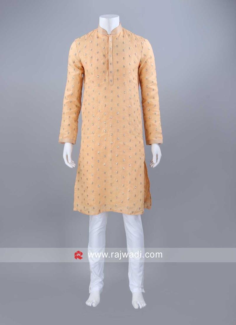 Linen Fabric Mens Kurta Pajama