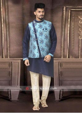 Brocade Silk Fabric Nehru Jacket