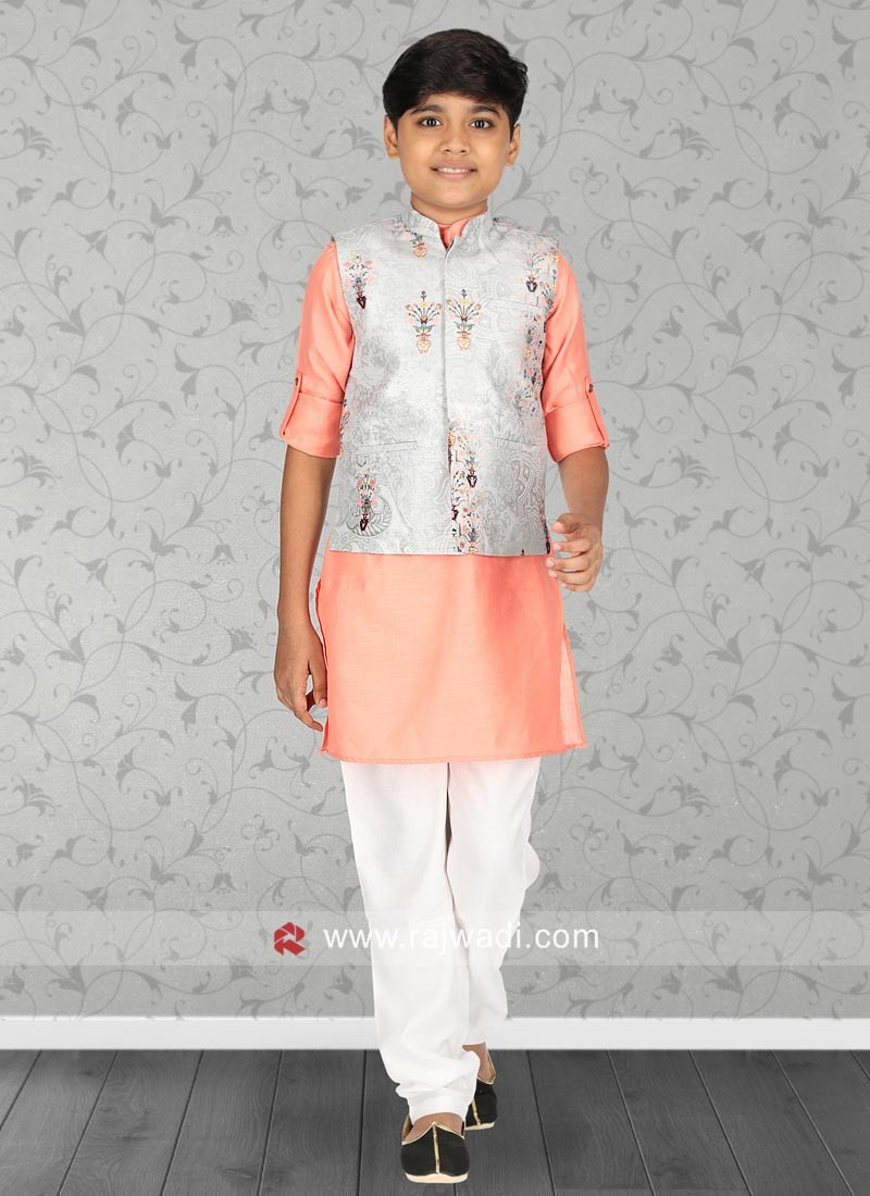 Linen Fabric Nehru Jacket For Party