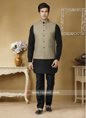 Linen fabric Party wear Nehru Jacket