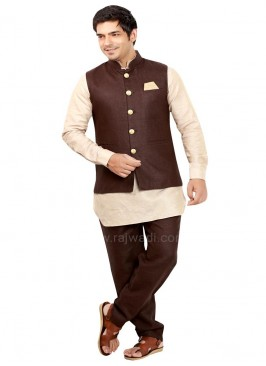 Linen fabric Party wear Nehru Jacket