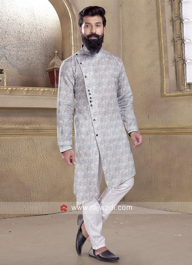 Cotton Silk fabric Pathani Suit