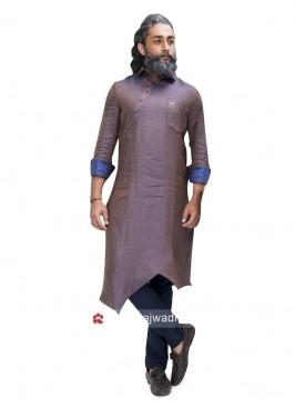 Stylish Medium Purple Color Pathani Suit