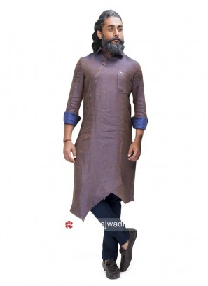 Stylish Medium Purple Color Pathani Suit