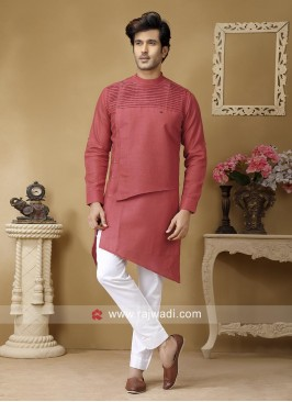 Linen Fabric Pathani Suit