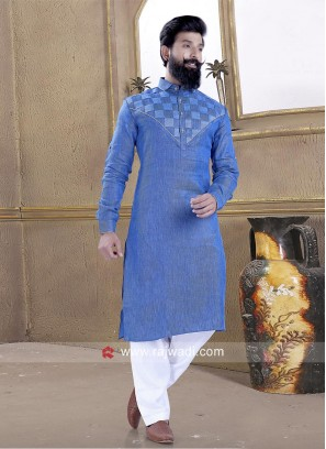 Linen fabric Pathani Suit for Party