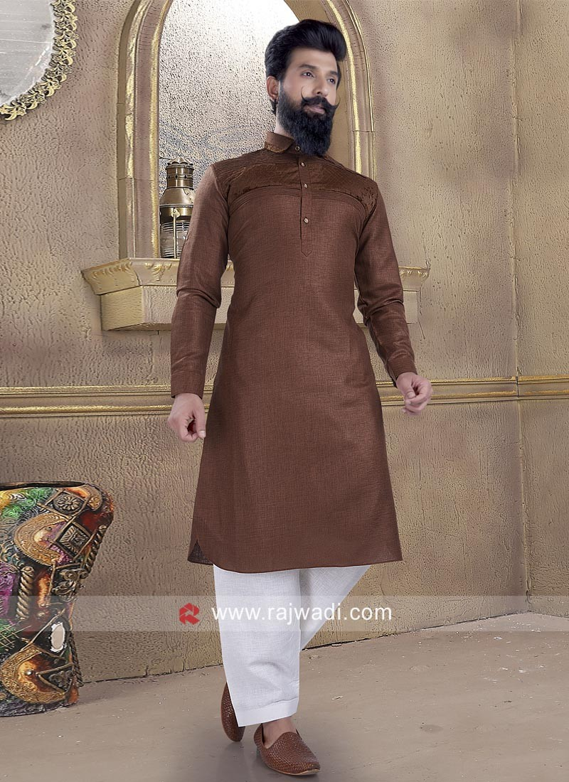 Cotton Silk fabric Pathani Suit for Wedding
