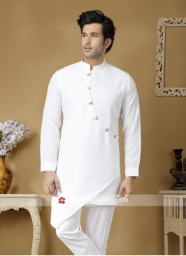 Ethinc White Color Kurta