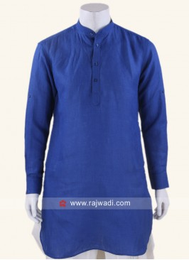 Linen fabric Royal Blue Kurta