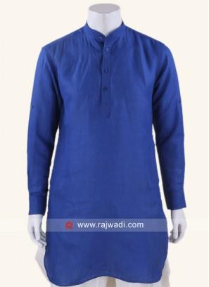 Linen fabric Royal Blue Kurta