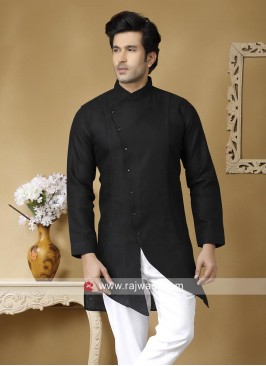 Linen Long Sleeve Kurta