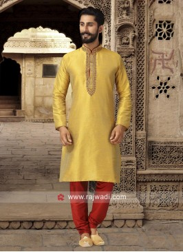 Attractive Mustard Yellow Kurta Pajama