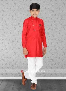 Rust Color Boys Kurta Set