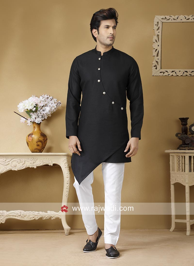 Linen Mens Kurta Set