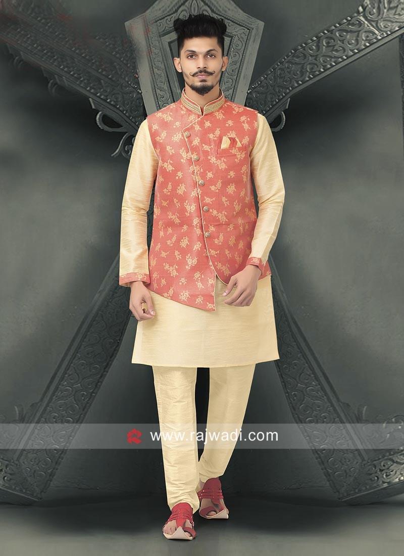 Beautiful Brocade Silk Nahru Jacket