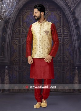 Art Silk Nehru Jacket for Party