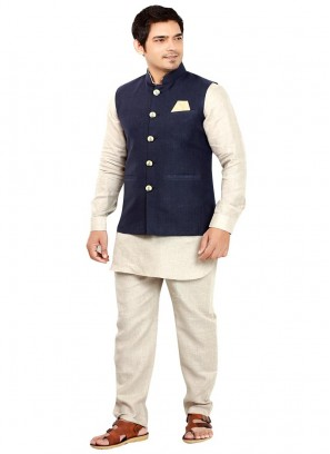 Linen Nehru Jacket for Party