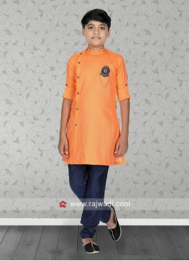Cotton Coral Color Kurta Pajama