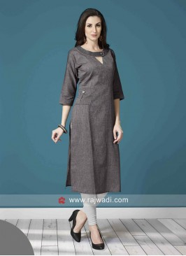 Linen Straight Fit Tunic with Pocket