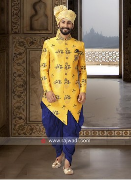 Cutdana Work Yellow Indo Western
