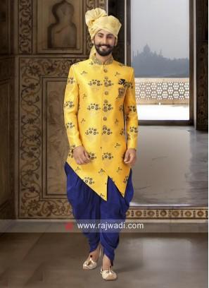 Cutdana Work Yellow Indo Western