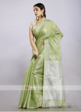 Liril green color casual saree