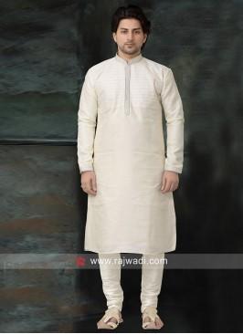 Casual White Color Kurta Pajama