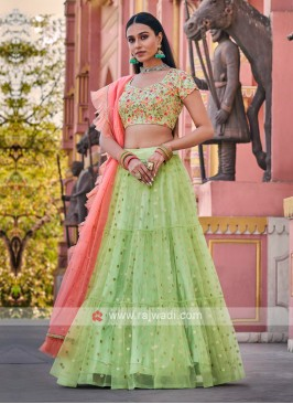 Liril Green & Peach Lehenga Choli
