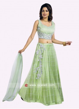Charming Liril Green Choli Suit