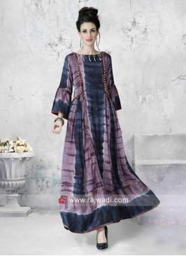Long Afghani Style Printed Kurti