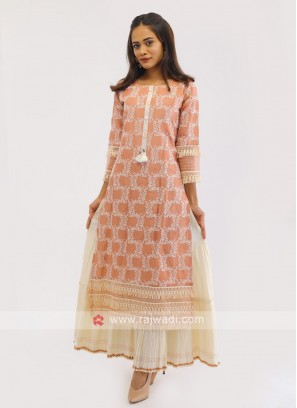 Long Kurti In Thread Work