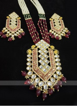 Long Neckalce Set With Earrings