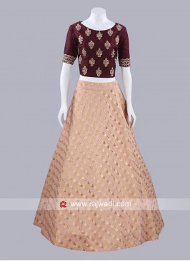Long Skirt with Designer Choli