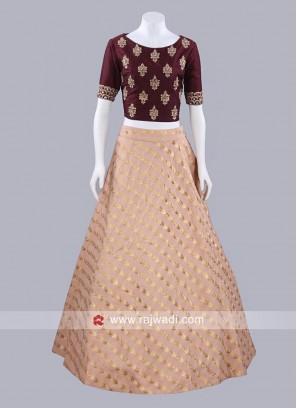 Long Skirt with Designer Choli
