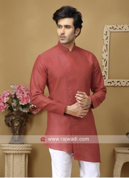 Rust Long Sleeve Kurta