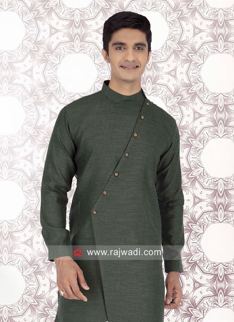Long Sleeve Cotton Fabric Kurta