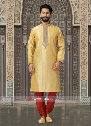 Long Sleeve Golden Yellow Kurta Pajama