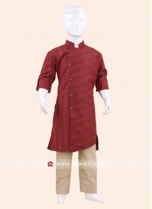 Long Sleeve Maroon Pathani