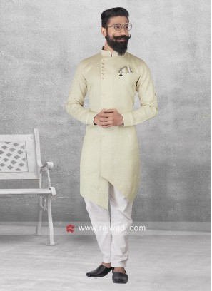 Long Sleeve Cream Color Pathani