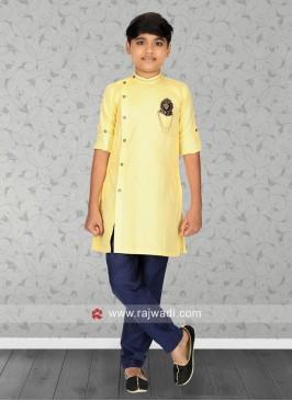 Long Sleeve Yellow Kurta Pajama