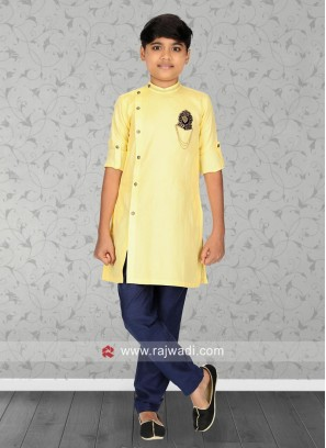Long Sleeve Yellow Kurta Pajama