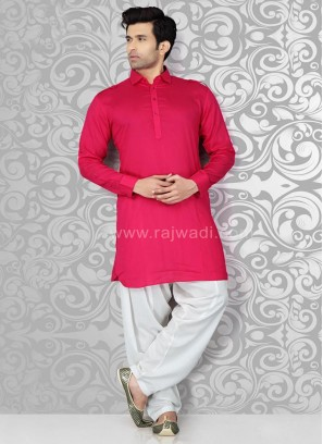 Long Sleeve Plain Pathani Suit