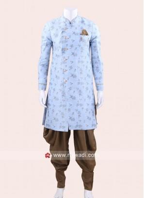 Long Sleeve Sky Blue Color Patiala Suit
