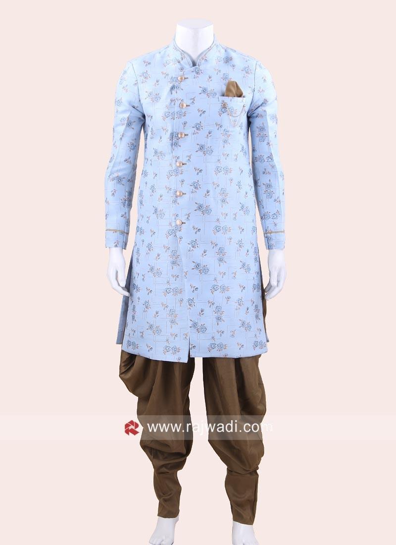 Long Sleeve Sky Blue Color Indo Western