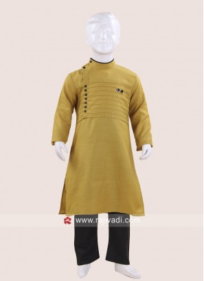 Long Sleeve Golden Kurta Pajama