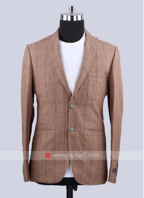 Louis Philippe Attractive Goldenrod Color Blazer
