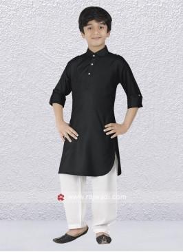 Lovable Black Color Pathani Suit