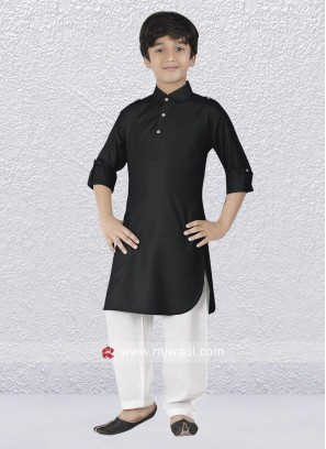 Lovable Black Color Pathani Suit