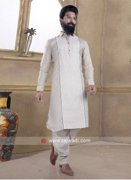 Lovable Beige Pathani Suit